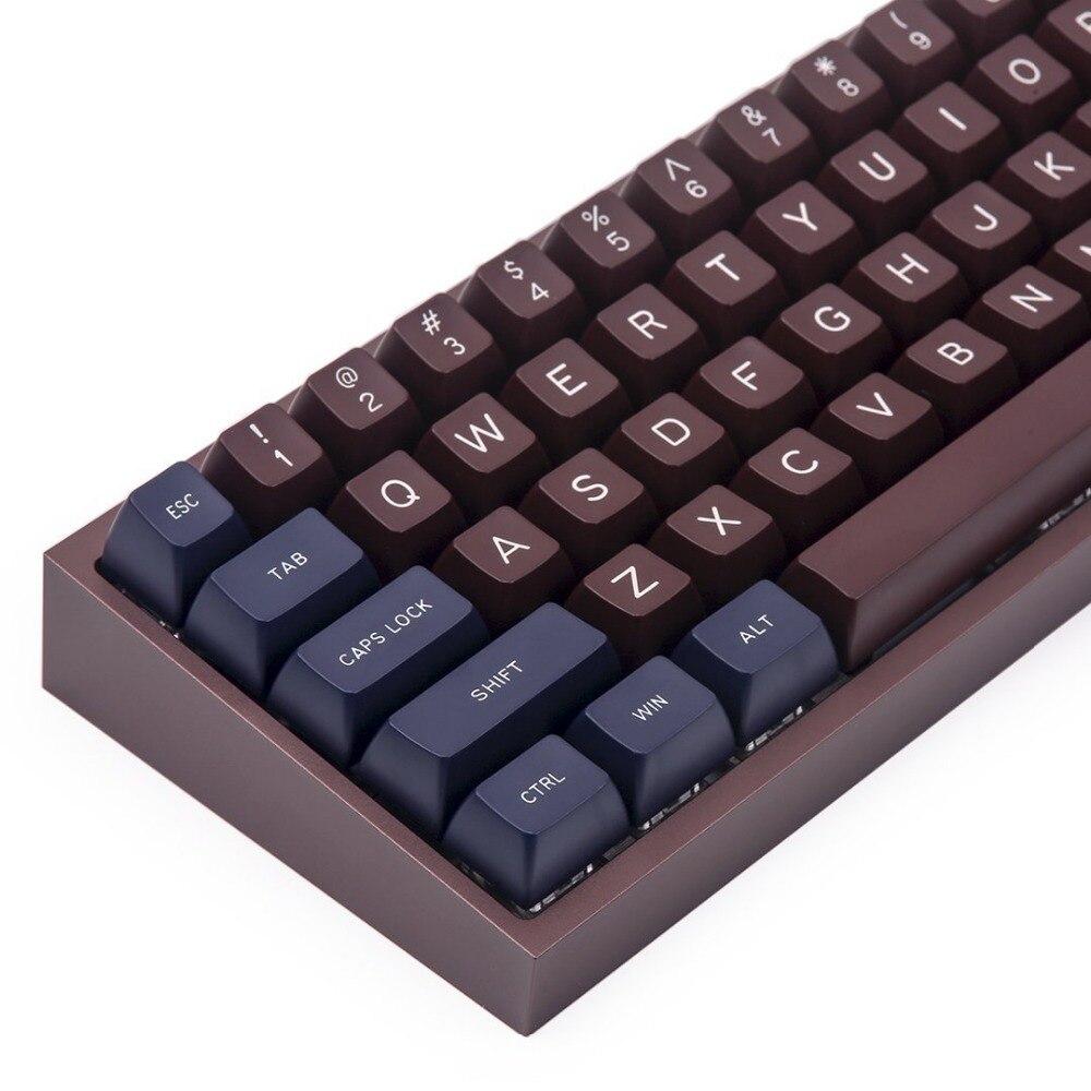 MAXKEY BC Blue coffee SA keycap Doubleshot Abs plastic 129 keys for cherry mx mechanical keyboard