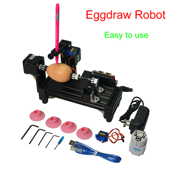 220v/110v Egg-drawing robot ball drawing machine Spheres drawing machine drawing on egg and ball for DIY and education children фото