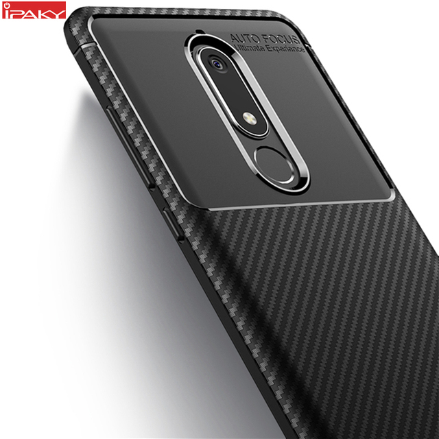 new style 5013c 270de US $4.99  for Nokia 5.1 Case IPAKY for Nokia 5.1 Plus Case Silicone TPU  Carbon Fiber Back Hybrid Armor Shockproof for Nokia 5.1 Plus Case-in Fitted  ...