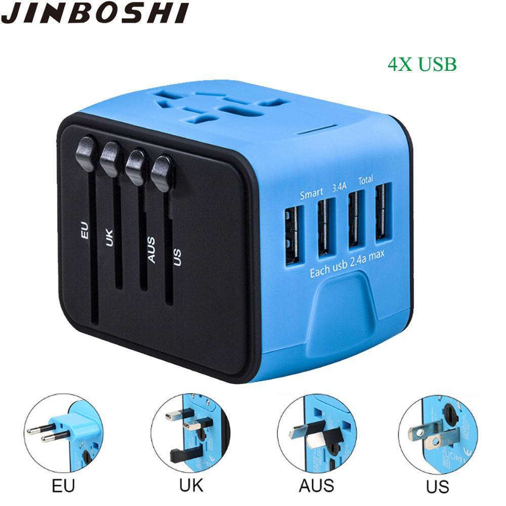 Incutex 1x Reisestecker UK GB England Travel Adapter Typ C Eurostecker 2-Pin auf UK 3-Pin Reise Steckdosenadapter schwarz