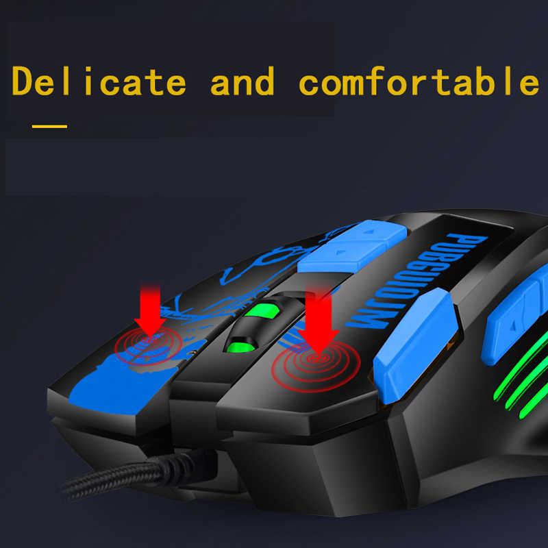 Souris filaire 4800 DPI 8 bouton souris de jeu LED optique rétro-éclairage ordinateur Gamer jeu souris bureau applaudissements pour Mac PC ordinateur portable portable