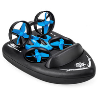 3 in 1 JJRC H36F RC Drone Hovercraft Land Mode Multi function Toy Headless Mode Speed Switching 4 Channels Remote Control Drone