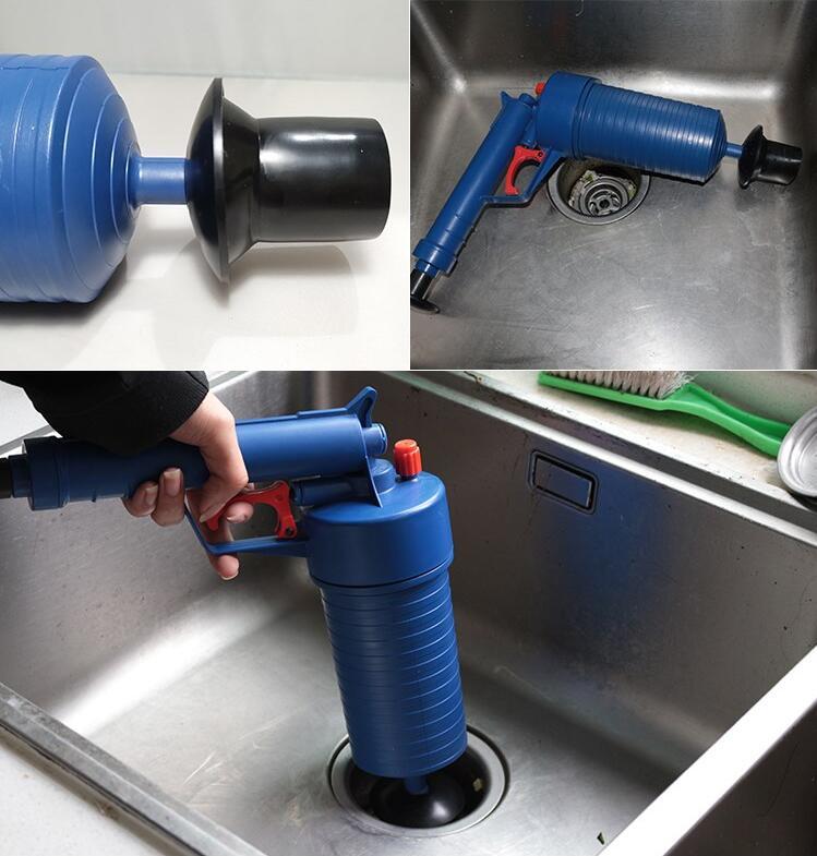 Air Power Drain Blaster Gun And High Pressure Sink Plunger And Cleaner Pump For Bathroom 10