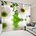 Гардения цветочный принт Роскошные затемненные 3D оконные шторы для гостиной офиса спальни индивидуальные размеры шторы Cortinas Rideaux