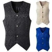 Men's Vintage Suit Vest Slim fit Steampunk Gothic Waistcoat Victorian Vest Party Show Costume