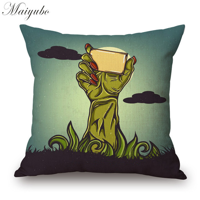 maiyubo halloween thrilling cartoon cushion cover hd prited rh aliexpress com