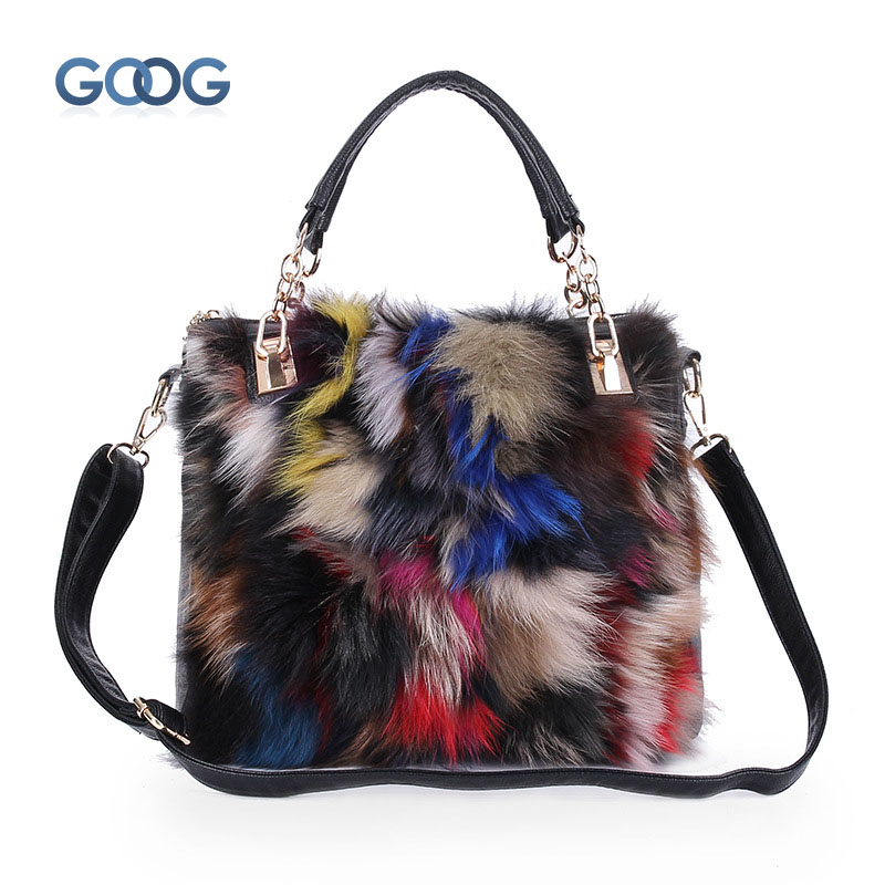 The new vertical section of the square-style leather fur package fox fur fur bag hand-made European and American fashion shoulde development of the third european union maritime safety package