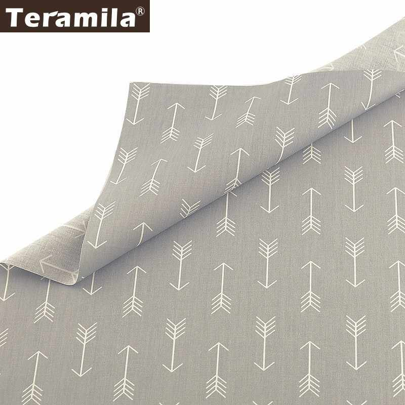 Teramila 100% Cotton Fabric Meters Telas Arrow Design Cloth DIY Sewing Curtains Dress Patchwork Quilts Beedsheet Home Textile