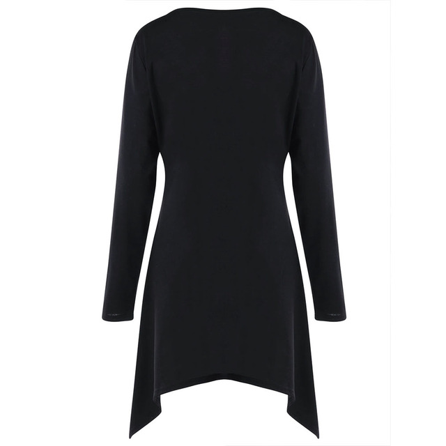 CharMma 2018 Spring Plus Size 5XL Long Sleeve T-Shirt Women Fashion Rose Print Crescent Hem Long T Shirt Oversized Tee Female