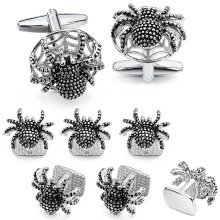 HAWSON Funny and Rock Spider Cufflinks and Studs Set for Men for Tuxedo  Luxury Gift for Party