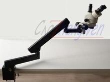 Fyscope 7X-45X Стерео Увеличить микроскоп + коленчатые Стенд Микроскоп