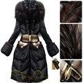 2016 Winter Jacket Women down jackets Women's Down coat Mink hair taproom luxury design black long slim furHooded down coats