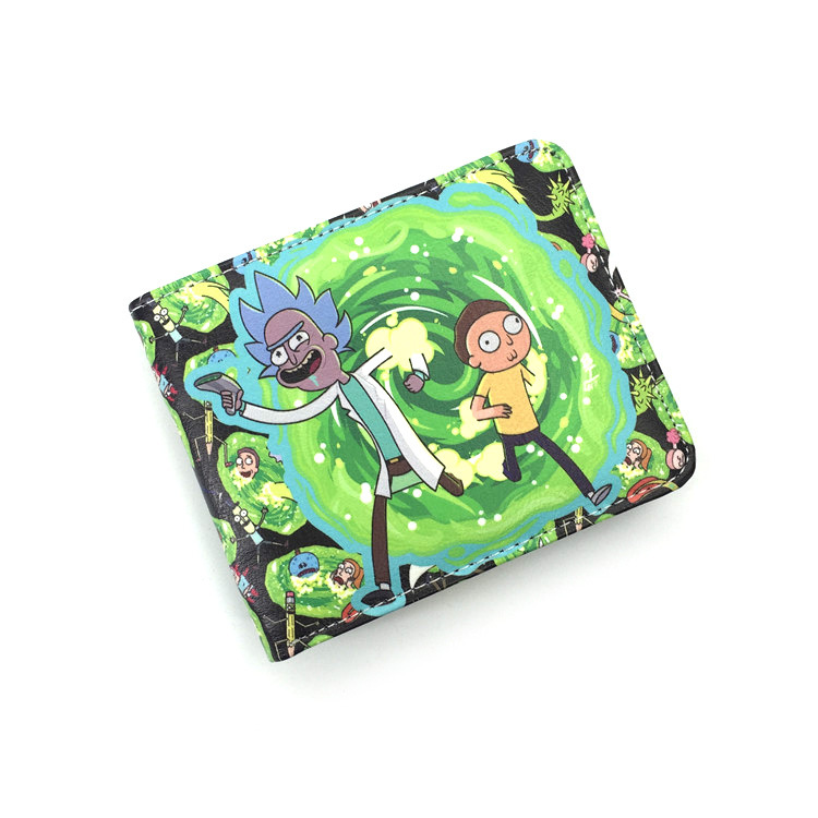 2018 Hot Cartoon Rick and Morty Wallet Pickle Rick Bifold With Money Cards Holder bag W435 rick and morty pu faux leather bifold wallet dft 10112