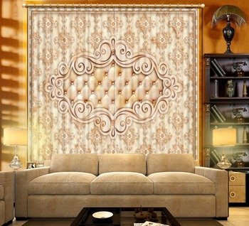 Blackout Curtains marble Living Room Curtains Euporean pattern 3D Curtains For The Bedroom Kitchen Modern Window Decoration
