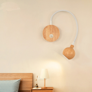 Image 3 - Modern ahşap led duvar lambaları topuz anahtarı 3W AC90 260V yatak odası başucu okuma işık yönü ayarlanabilir iç mekan aydınlatması