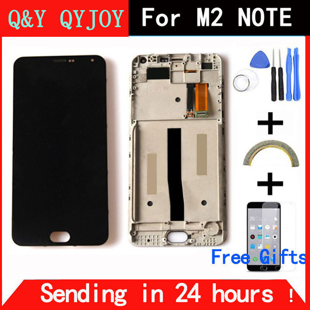 Q&Y QYJOY LCD Display + Digitizer Touch Screen assembly For Meizu M571 M2 Note Cellphone 5.5 inch Meilan Note2 With Frame
