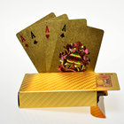 Gold Foil Poker Set Waterproof Cards Luxury Golden Playing Cards Game Plastic Foil Poker Durable Gift Collection