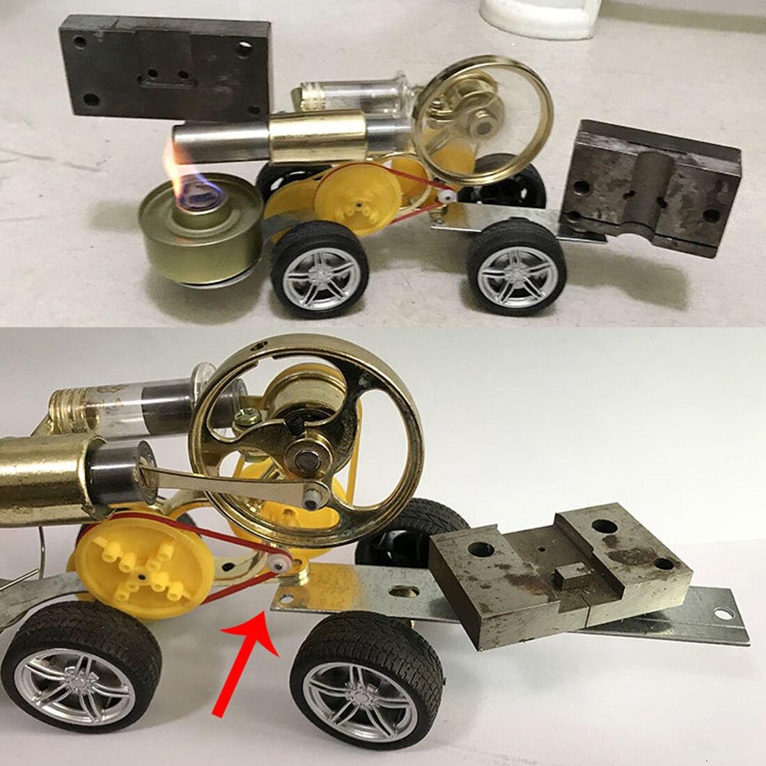 Stirling moteur conduite voiture modèle soutien enfants apprentissage Science ensemble classe enseignement jouet Kit Science éducatif apprentissage jouet - 3