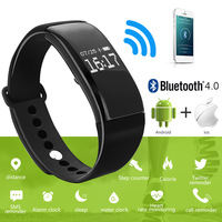 Sport Smart Band Wrist Bracelet Wristband Heart Rate Monitor Waterproof Bluetooth Smartband For Iphone Android