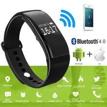 Спорт Смарт запястье браслет Heart Rate Мониторы Водонепроницаемый Bluetooth smartband для Iphone, Android