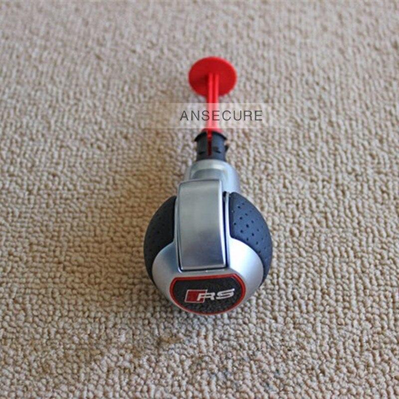 Jeu trous RS pommeau de levier de vitesse levier de vitesse Handball pour Audi A4 A5 A6 A7 Q3 Q5 modification de voiture