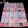 Wholesale 20 Pcs/lot New Candy Color Solid/ Dot/ Print Bow Hairpin Hair Clips for Baby Girls Kids Hair Accessories
