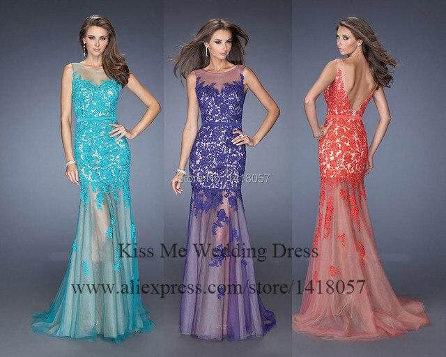 Purple Orange Prom Dress