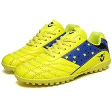 ecf66d0932ccf حار بيع TF المرابط جورب أحذية كرة القدم الأولاد التدريب رياضية الاطفال  الملاعب الصلبة الأحذية الطويلة الخاصة بكرة القدم الرجال ا.