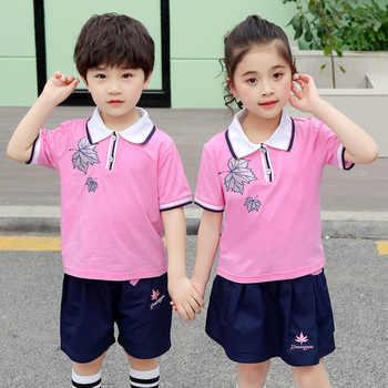 Student School Uniform 2019 New Summer Short-sleeved Cheerleader Uniform School Girl Skirt Korean Uniform Cheerleading Uniform