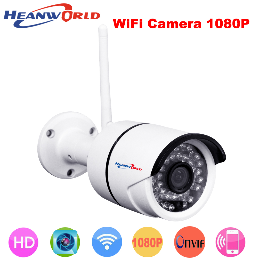 Waterproof Onvif IP camera WIFI 2.0Megapixel 1080P HD wired Wireless Digital Security CCTV IP Cam IR Infrared P2P Bullet Kamera 41mm corgeut black dial sapphire glass miyota automatic movement mens watch c03