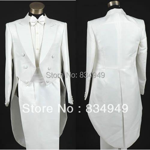 custom made blanc habit de mariage mle tailcoat smoking sur mesure longue queue smoking tailcoat - Costume Mariage Homme Queue De Pie