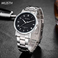 WLISTH Luxury brand Watches Men Fashion Quartz-watch Full Stainless steel Men dress quartz watches waterproof Relogio Feminino