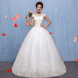 Image 3 - Новое весеннее и летнее модное свадебное платье 2020, белое свадебное платье принцессы на шнуровке в Корейском стиле, бальное платье