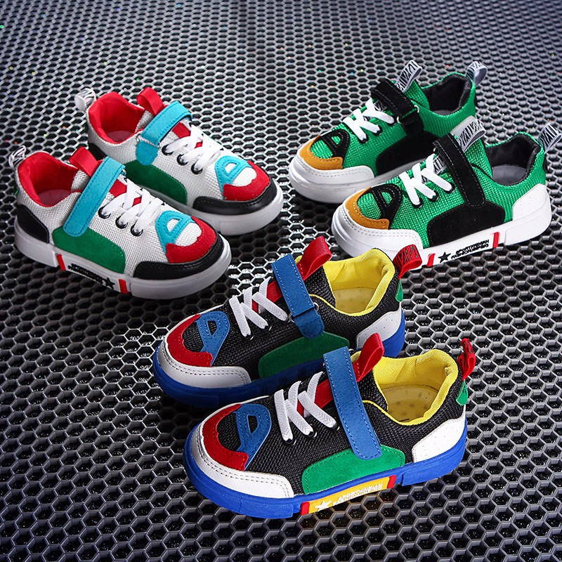 Autumn 2018 New Kids Shoes Breathable Boys School Girls Genuine Leather Casual Shoes Super Soft and Comfortable 2-12 Years Old