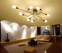 Real Picture Ceiling Lights Vintage Lamps Iluminacion Ceiling Light Wrought Iron Luminaria E27 Bulb Home Lighting