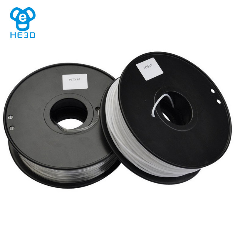 HE3D Rerap 3d printer PETG filaments 1.75mm 1Kg high quality 3D printing material best quality 1kg emodin 98