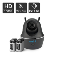 Reolink 100 Wire Free Wifi Battery Camera 1080P Full HD IP Cam Pan Tilt Security Indoor