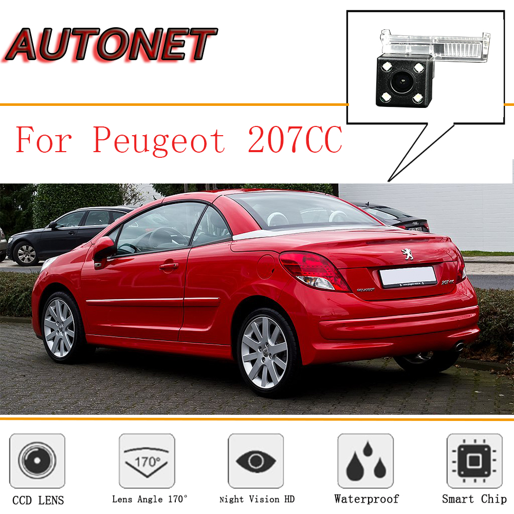 AUTONET Rear View Camera For Peugeot 207CC 207cc 2D coupe CCD Night Vision /License Plate camera/Reverse Camera