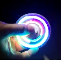2017 LED Light Hand Finger Spinner Plastic For Autism And ADHD Relief Focus Anxiety Stress Gift