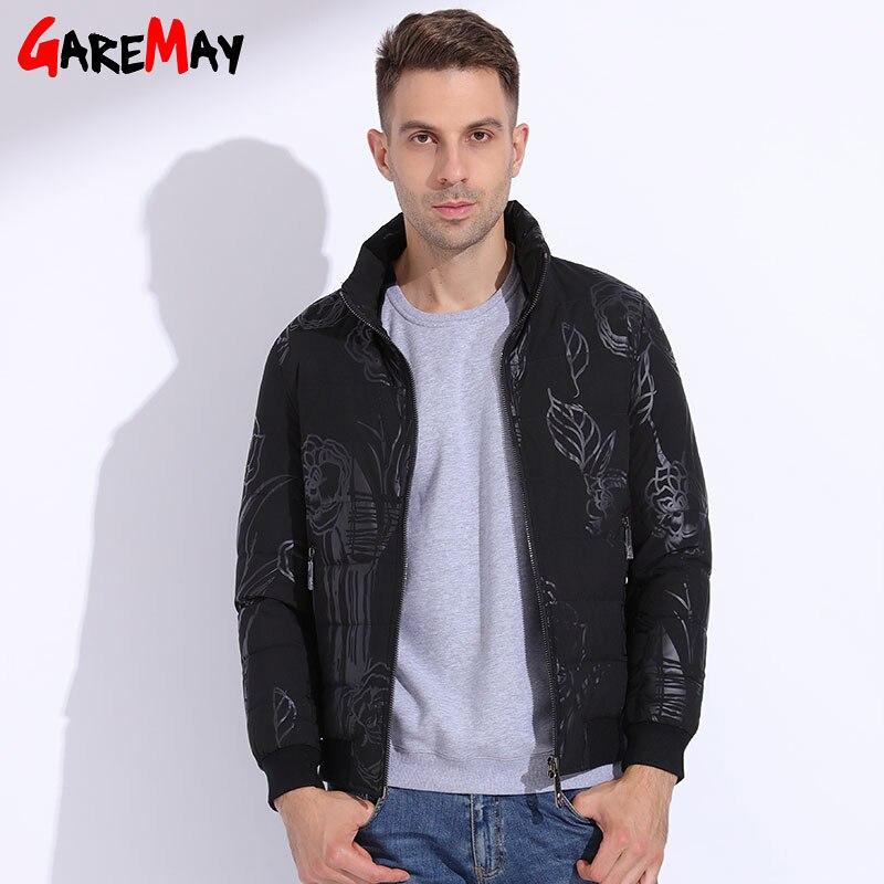 d11087fbf US $125.95  Winter Jacket Men Big Size Winter Puffer Jacket Duck Down Coats  Pattern Clothing Warm Coats Waterproof Short Outwear GAREMAY-in Down ...