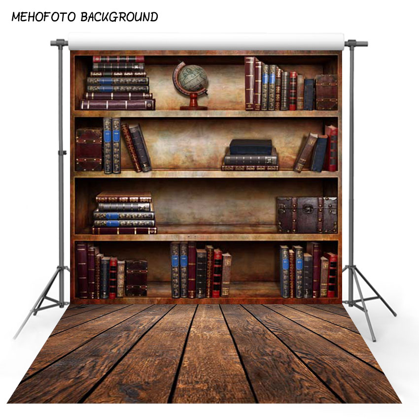Classic Bookshelf Photography Background for Photo Studio