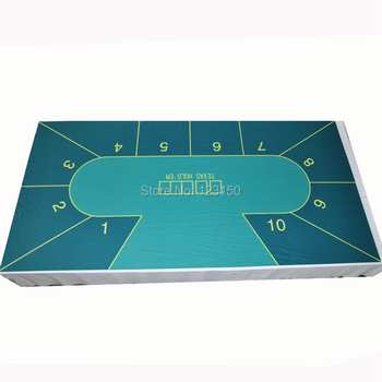 WP-055  Professional Water Resistant Poker Table Cloth, Baccarat for 9 persons,  1PC, Free shipping