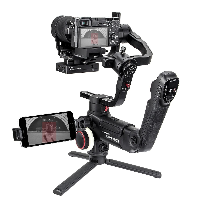 DHL Zhiyun Crane 3 LAB 3-axis Handheld Gimbal DSLR Camera stabilizer for Sony A7M3 A7R3 Canon 6D 5D Panasonic GH4 GH5 Nikon D850 1