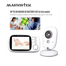 Baby Monitor 3.2 inch LCD IR Night Vision 2 way Talk 8 Lullabies Temperature monitor video nanny radio babysitter VB603