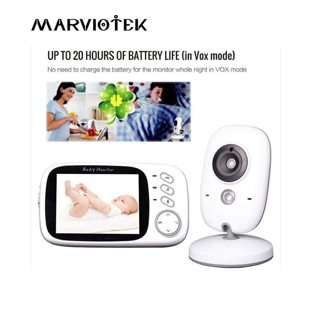Baby Monitor 3.2 inch LCD IR Night Vision 2 way Talk 8 Lullabies Temperature monitor video nanny radio babysitter VB603