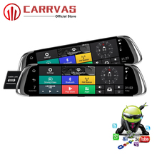 CARRVAS 9.66 inch Android Car Mirror GPS DVR 4G FHD With WiFi Bluetooth Navigators Automobile Support Stream Media