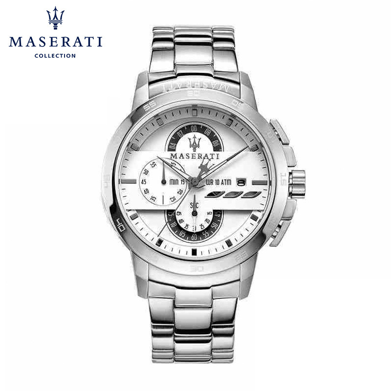 Maserati Round Wristwatches Chronograph Stainless Steel Quartz Wristwatches Casual Fashion Waterproof Watches R8873619004 часы maserati