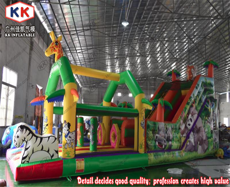 Garden inflatable bouncing combo bouncy house with slide