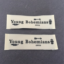 Separate cut folded clothing labels custom private brand woven and tags 1000pcs/lot