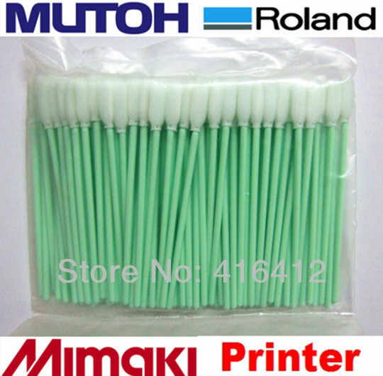500 pcs Foam Tip Membersihkan Penyeka untuk Roland Mimaki Inkjet kecil JV3 JV4 Untuk Epson DX3 DX4 DX5 DX7 Printer kepala Pembersih penyeka